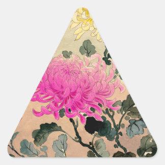 Adesivo Triangular 土屋光逸 de Tsuchiya Koitsu - 菊 do crisântemo