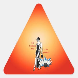 Adesivo Triangular 12 greves e eu somos #1 perfeitos