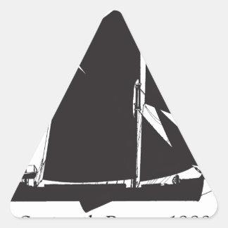 Adesivo Triangular 1889 barca do spritsail - fernandes tony