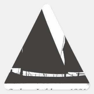 Adesivo Triangular 1891 barcos salva-vidas de navigação - fernandes