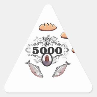 Adesivo Triangular 5000 alimentados o jc do milagre