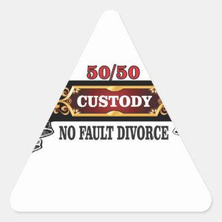 Adesivo Triangular 50 50 direitos de pais,