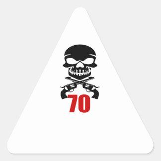 Adesivo Triangular 70 designs do aniversário