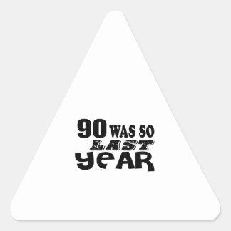 Adesivo Triangular 90 era assim tão no ano passado o design do