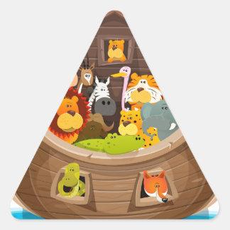 Adesivo Triangular A arca de Noah com animais da selva
