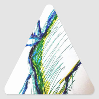 Adesivo Triangular A criação é libertação