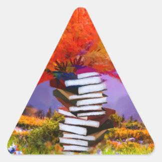 Adesivo Triangular A educação será sempre a base se todo o sucesso