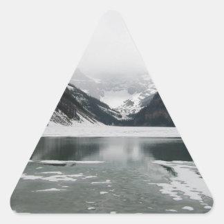 Adesivo Triangular A extremidade do inverno, Lake Louise