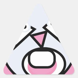 Adesivo Triangular A forma fez o rato
