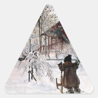 Adesivo Triangular A jarda e o Lavagem-House, Carl Larsson