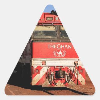 Adesivo Triangular A locomotiva do trem de Ghan, Darwin