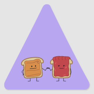 Adesivo Triangular A manteiga de amendoim e o punho da geléia colidem