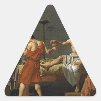 Adesivo Triangular A morte de Socrates