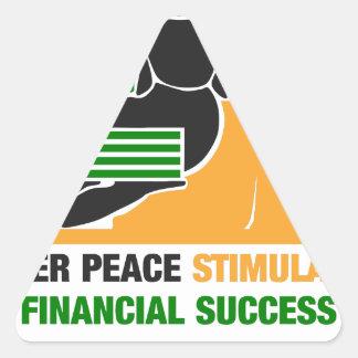Adesivo Triangular A paz interna estimula o sucesso financeiro