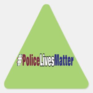 Adesivo Triangular # a polícia vive matéria