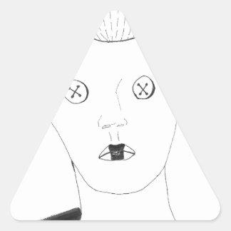 Adesivo Triangular A rainha do botão