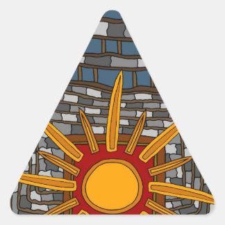 Adesivo Triangular A última casa de tesouro