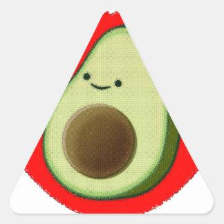 Adesivo Triangular Abacate bonito no coração vermelho