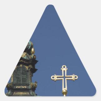 Adesivo Triangular Abóbadas ortodoxos da igreja cristã