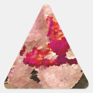 Adesivo Triangular Abstrato vermelho e branco da orquídea