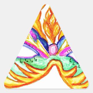Adesivo Triangular Aguarela da máscara do carnaval
