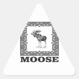 Adesivo Triangular alces do touro em um quadro