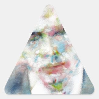 Adesivo Triangular ALDOUS HUXLEY - retrato .4 da aguarela