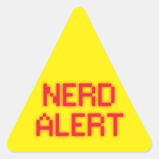 Adesivo Triangular Alerta do nerd