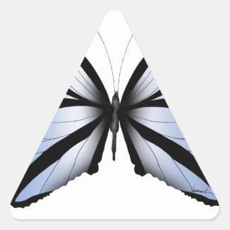 Adesivo Triangular Aleta azul gigante da borboleta 5 azuis