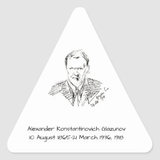Adesivo Triangular Alexander Konstamtinovich Glazunov 1918