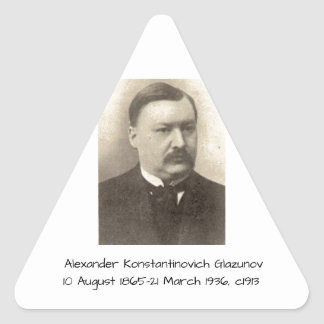 Adesivo Triangular Alexander Konstamtinovich Glazunov c1913