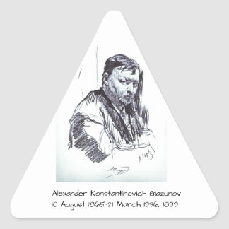 Adesivo Triangular Alexander Konstantinovich Glazunov 1899