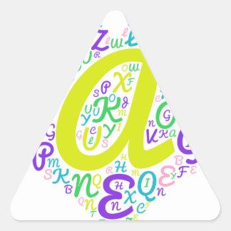 Adesivo Triangular alfabeto do amor