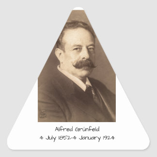 Adesivo Triangular Alfred Grunfeld