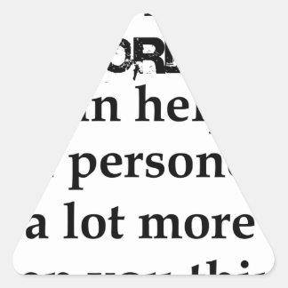 Adesivo Triangular algumas palavras agradáveis podem ajudar uma