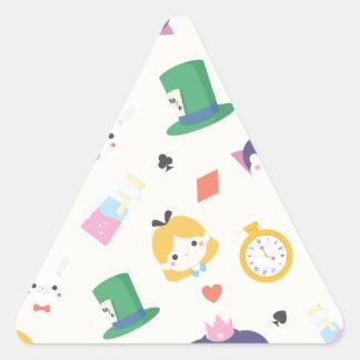 Adesivo Triangular Alice no país das maravilhas