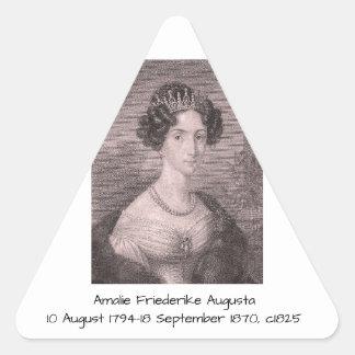 Adesivo Triangular Amalie Friederike Augusta c1825