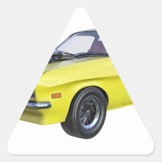 Adesivo Triangular Amarelo do carro de 1970 músculos com listra preta