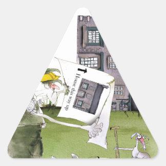 Adesivo Triangular ame ascendentes ey de yorkshire ', trabalhos um