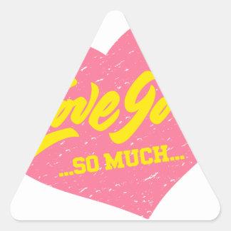 Adesivo Triangular ame-o tanto coração do vintage