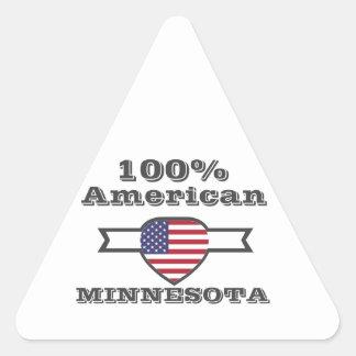 Adesivo Triangular Americano de 100%, Minnesota