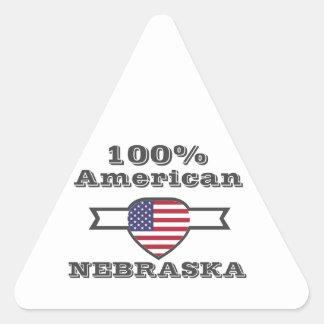 Adesivo Triangular Americano de 100%, Nebraska