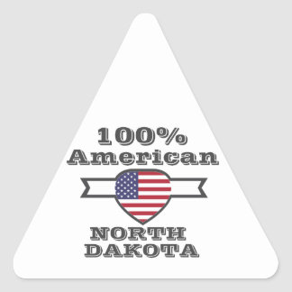 Adesivo Triangular Americano de 100%, North Dakota