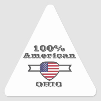 Adesivo Triangular Americano de 100%, Ohio