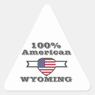Adesivo Triangular Americano de 100%, Wyoming