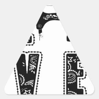 Adesivo Triangular amor para sewing