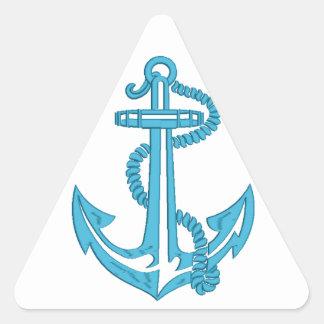 Adesivo Triangular âncora - imitação do bordado