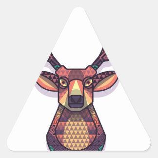 Adesivo Triangular animal dos cervos com chifres