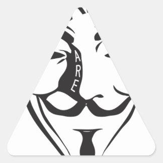 Adesivo Triangular Anónimo