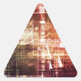 Adesivo Triangular Aparência de Digitas com arte de transferência da